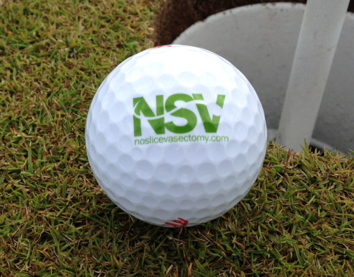 No Slice Vasectomy Logo on Ball